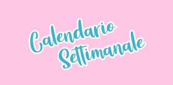 News: Calendario Settimanale (18/01 – 24/01)